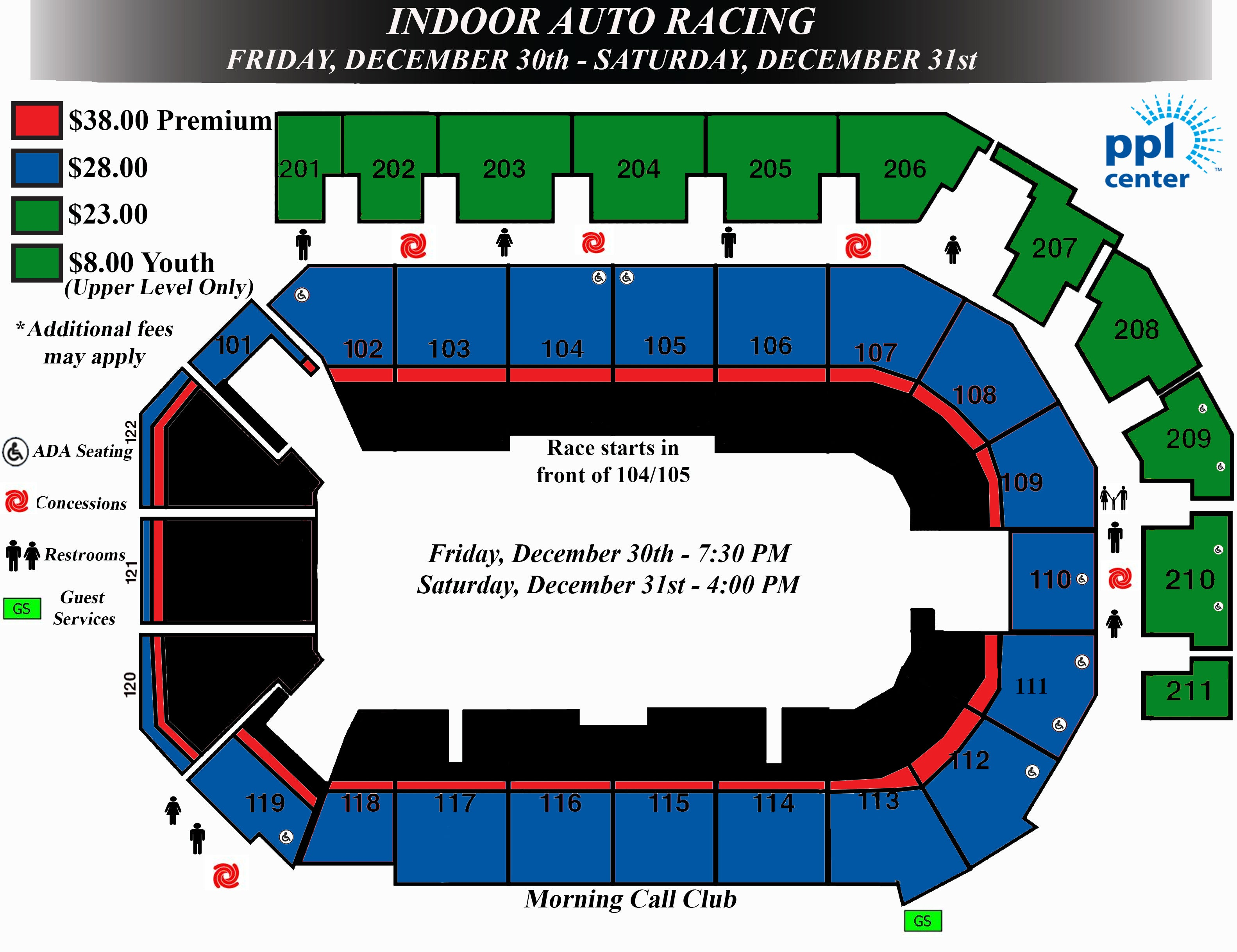 Seating charts ppl center