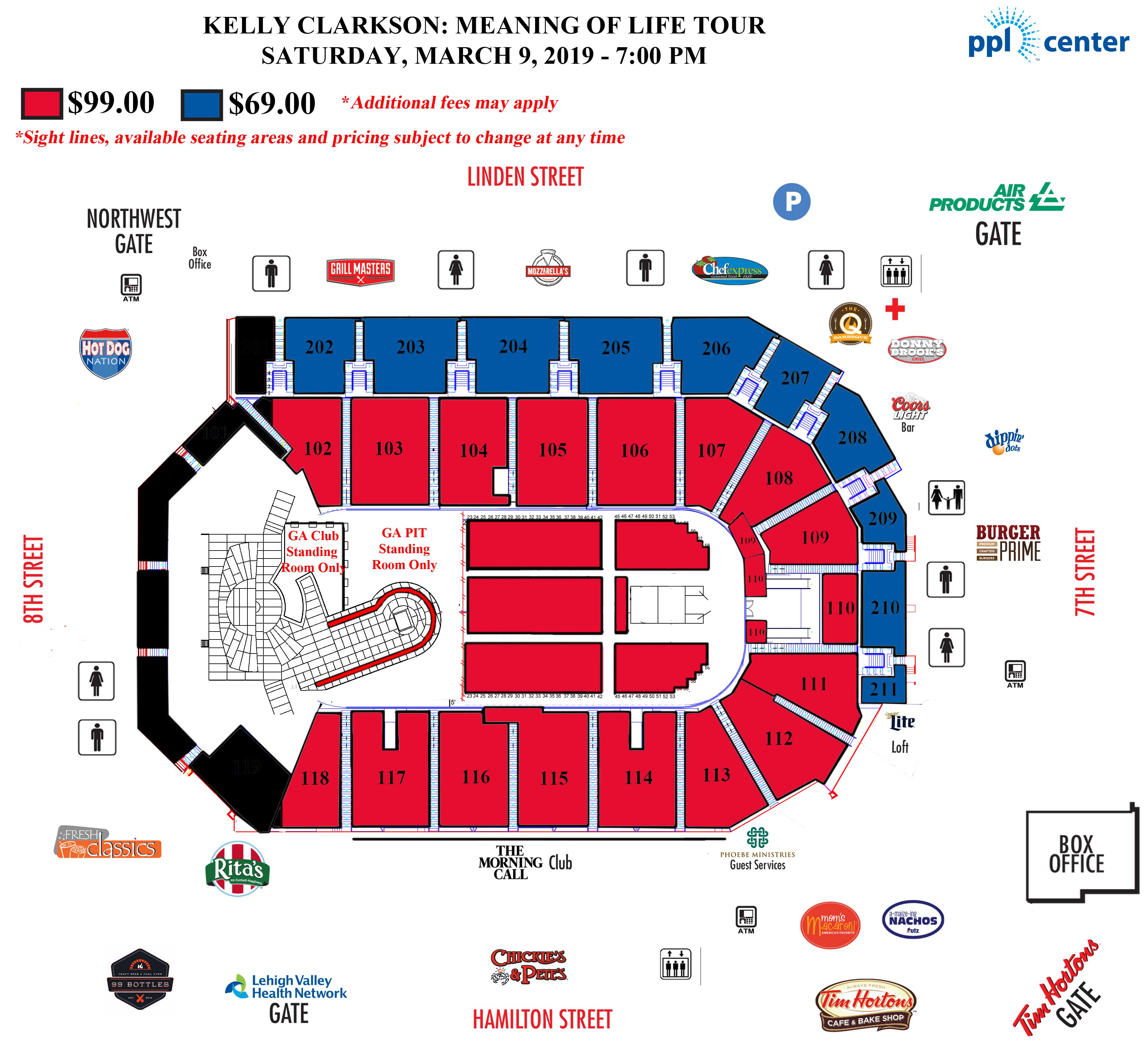 Allstate Arena Floor Plan: Ppl Park Seating Chart With Rows